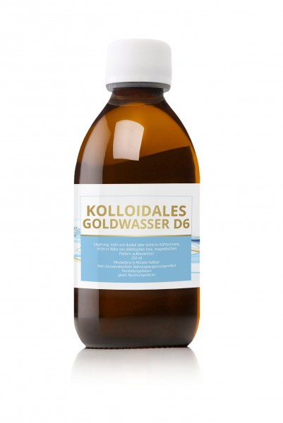 kolloidales Gold Goldwasser D6 1 2 ppm 250 ml Braunglas